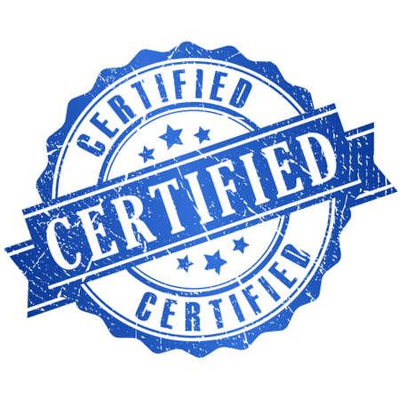 Certified grunge icon Illustration