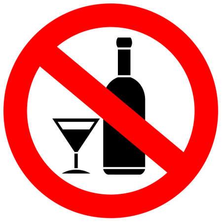 Žádné Alkoholické nápoje Ilustrace