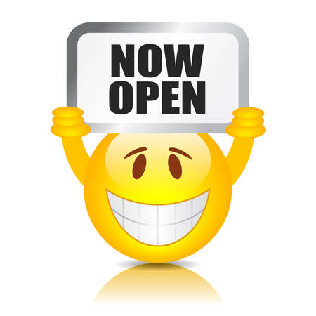 Now open sign Иллюстрация