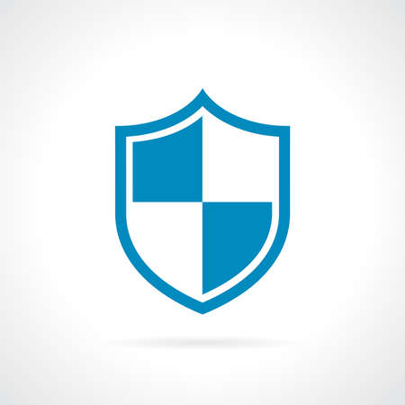 risks button: Shield protection icon Illustration