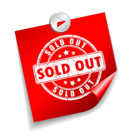 sold out: Sold out sticker Illustration