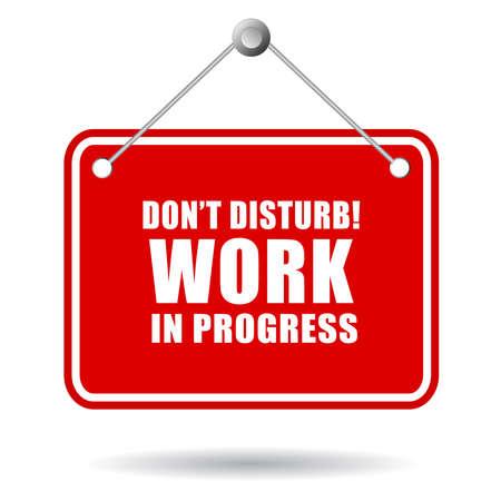 quiet: Do not disturb, work in progress Illustration