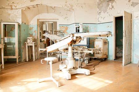 habitacion desordenada: Antiguo sala de operaciones Foto de archivo