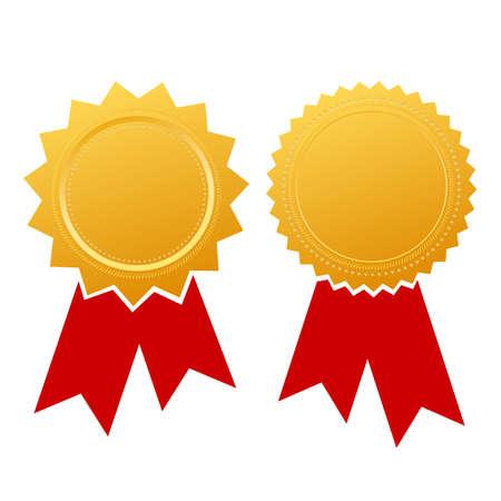 Blank ribbon certificate