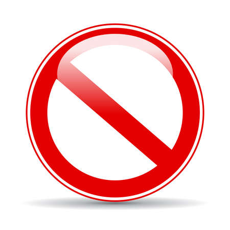 ban: Blank restricted sign