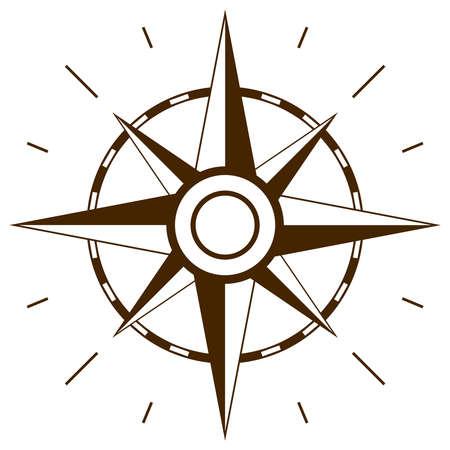 rosa dei venti: Vento simbolo rosa Vettoriali
