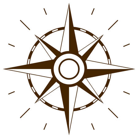 map compass: Wind rose symbol