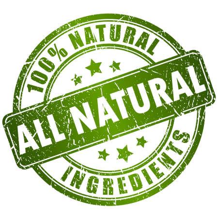naturel: Les ingrédients naturels timbre Illustration