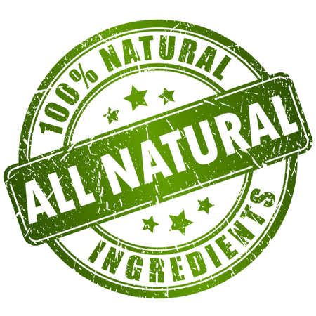 natural health: Natural ingredients stamp