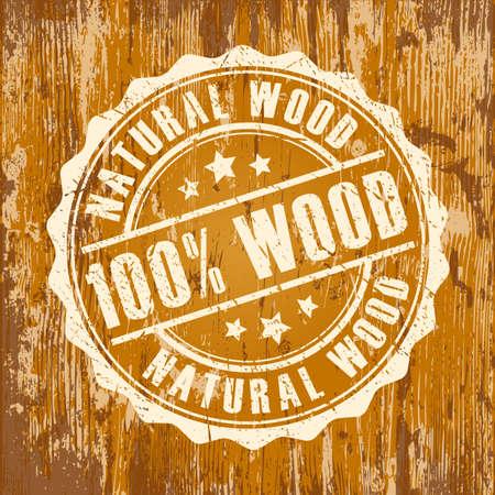 Natural wood stamp 向量圖像