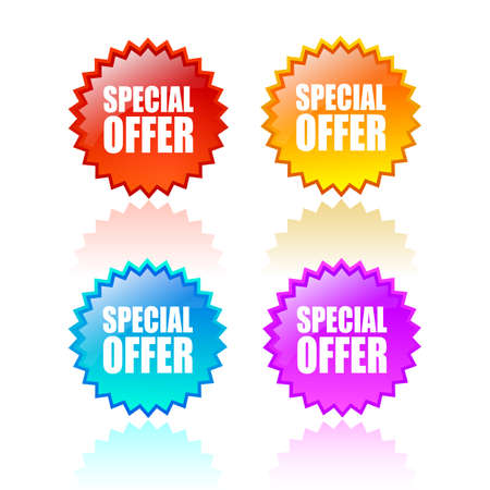 Special offer star icon Vector