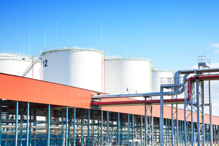 industrial park: Oil storage industrial park Stock Photo