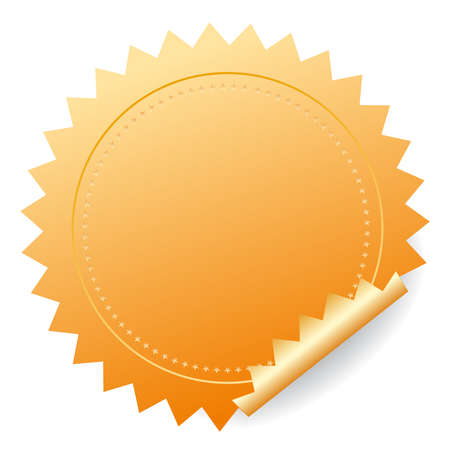 Gold sticker Vector