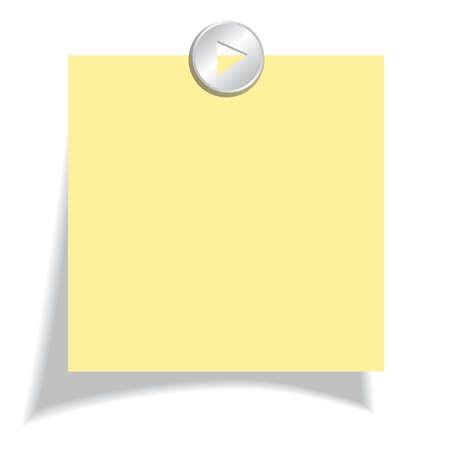 Papel de la nota de color amarillo