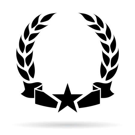 flag vector: Laurel wreath