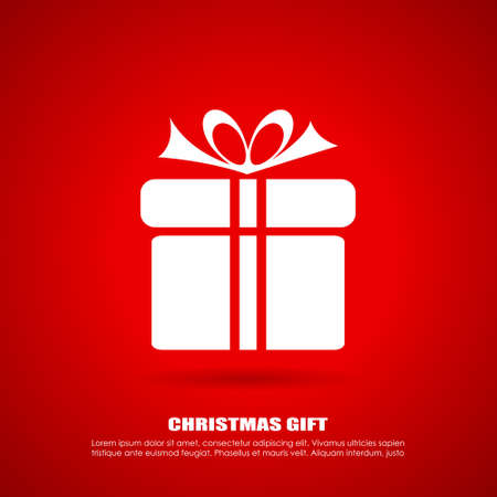 Christmas gift icon Vector