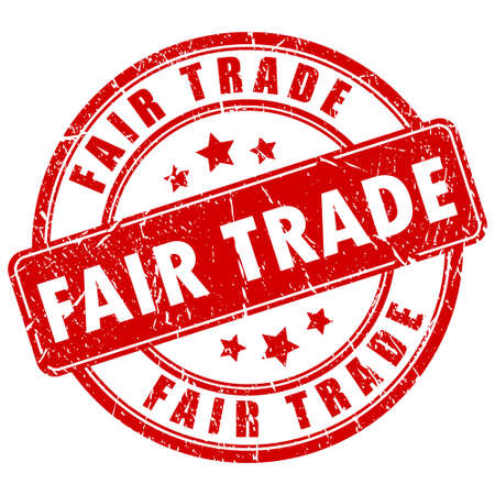 Fair trade vector business stamp