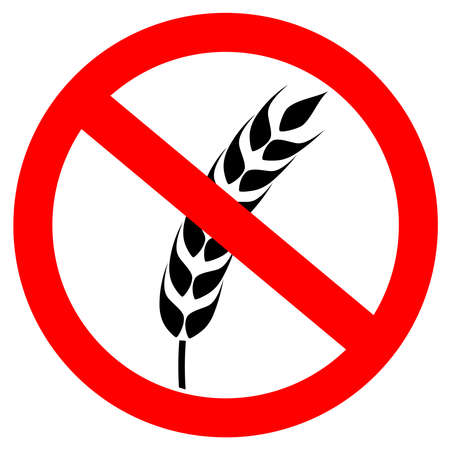 gluten: Gluten free sign