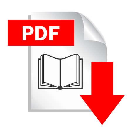 Archivo PDF Descargar Icono, Ilustración Vectorial Ilustraciones Vectoriales, Clip Art Vectorizado Libre De Derechos. Image 15399621.