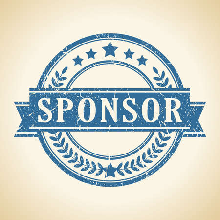sponsorship: Sponsor vector stamp