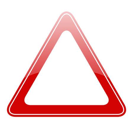 compulsory: Blank warning sign