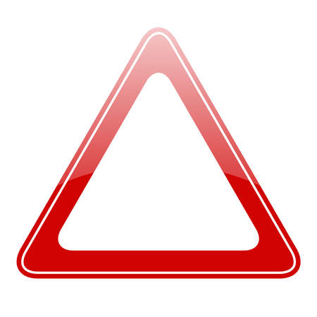 triangular warning sign: Blank warning sign