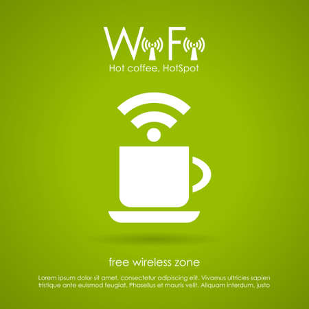 Wi-fi cafe icon Vector