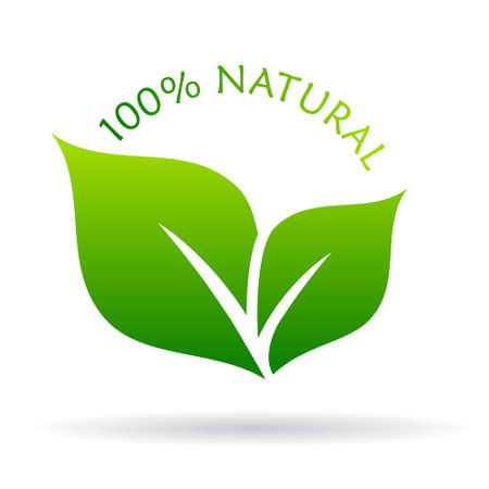 logo recyclage: ic�ne naturelle 100