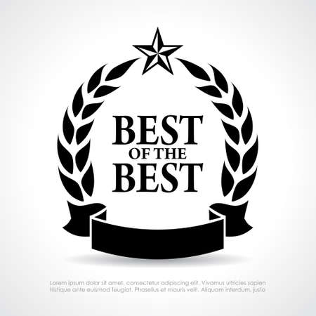 quality seal: Best of the best icon Illustration