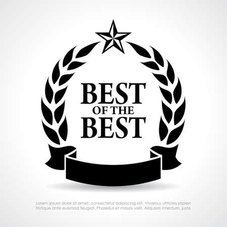 Best of the best icon Stock Illustratie
