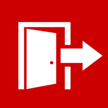 emergency exit label: Exit vector icon Illustration