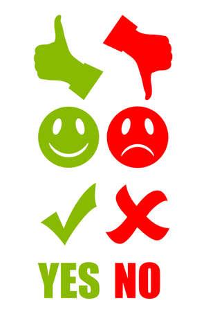 good bad: Bonne mauvaise symbole Illustration