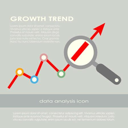 Growth trend poster Banco de Imagens - 34145735