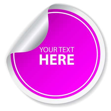 Purple vector sticker