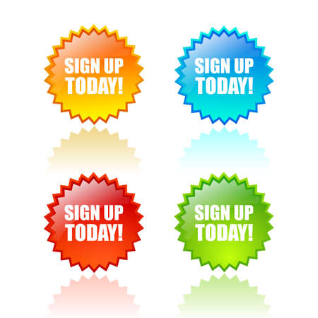 sign up button: Sign up today icon Illustration