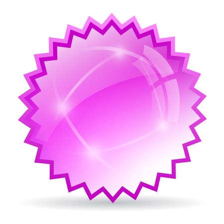 Glass star icon Vector