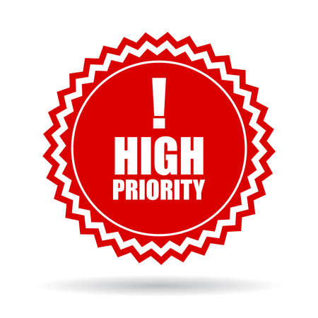 priority: High priority icon Illustration