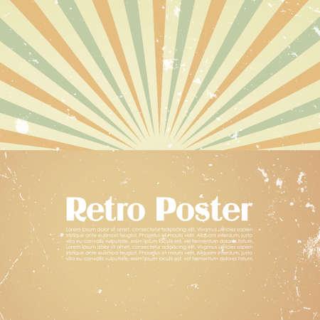 splash page: Retro poster template