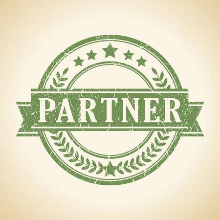 PARTNER: Partner stamp Illustration