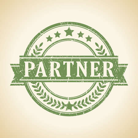 Partner stamp Ilustração