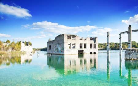 submerge: Industrial landscape, abandoned buildings