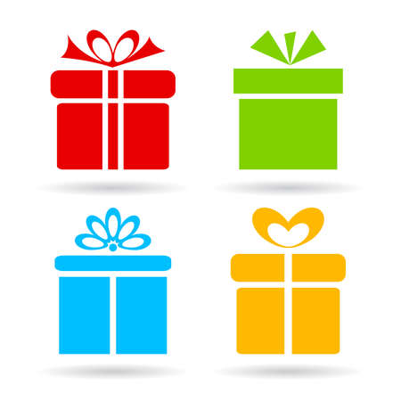 Icône de la boîte-cadeau Banque d'images - 35086829