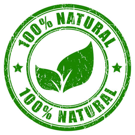 productos naturales: 100 sello naturales Vectores
