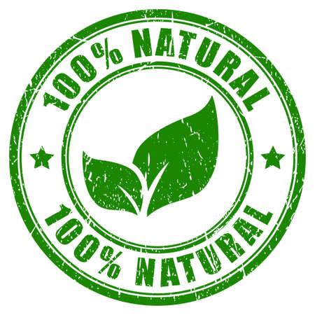 puro: 100 sello naturales Vectores