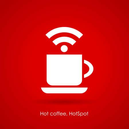 cafe internet: Icono cibercaf�