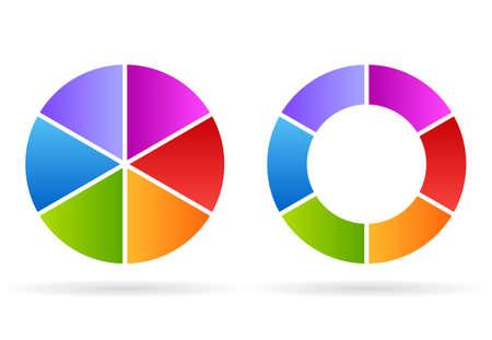 segments: Five segments cycle diagram
