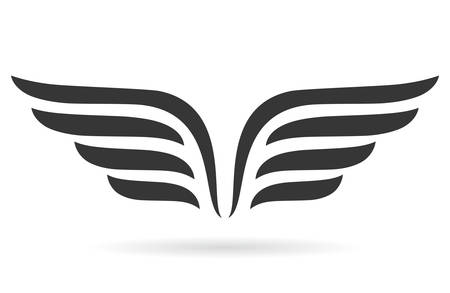 abstract logos: Wings symbol Illustration