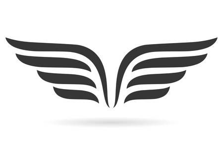 abstract: Wings szimbólum Illusztráció