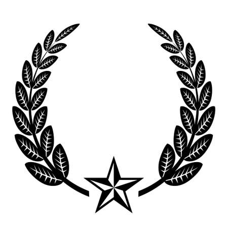 Laurel wreath icon Illustration