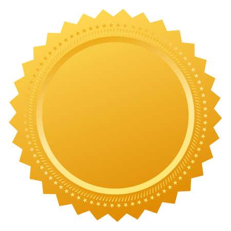 medals: Blank certificate seal Illustration